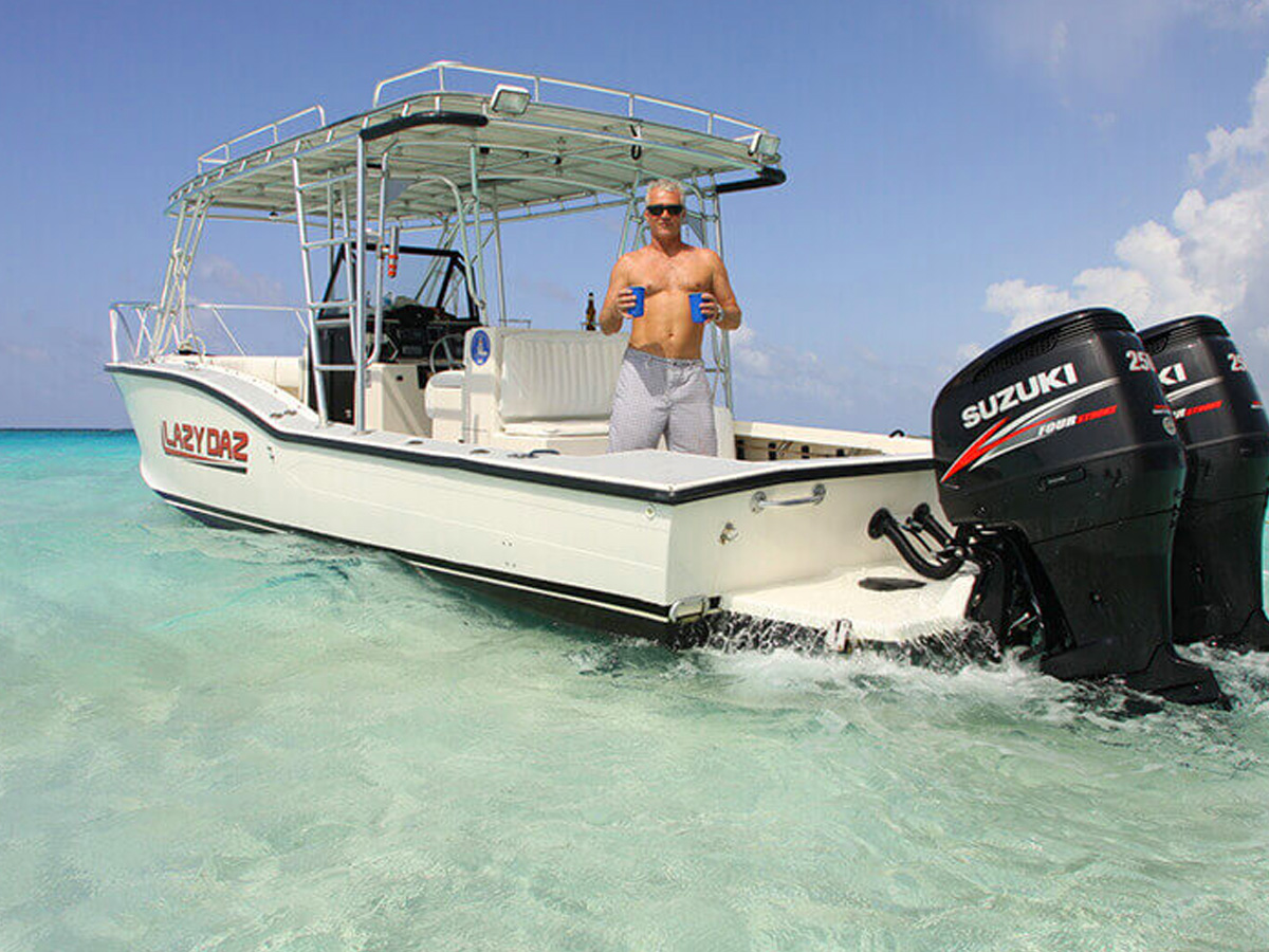 34ft Ocean Master with twin 250hp